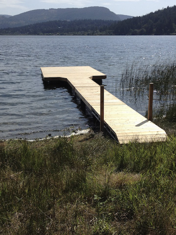 St. Mary's Lake dock complete